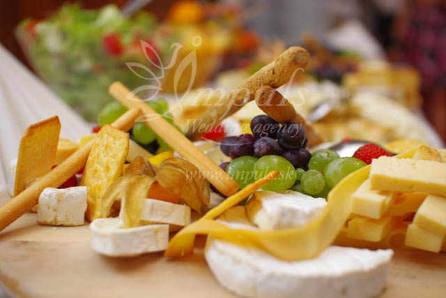 Svadobné menu - syrová misa